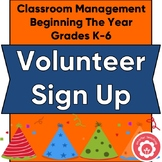 Classroom Volunteer Worksheets for the Year Grades K-6