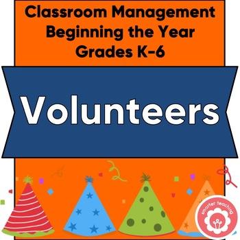 Classroom Volunteer Worksheets