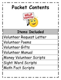 Classroom Volunteers:scripts, poems, handbook and more!