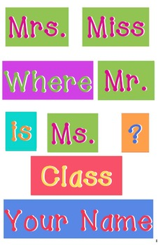 Classroom - WORDS for your Where is the classroom sign