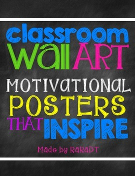 Classroom Wall Art {Chalkboard Theme}