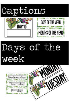 Classroom Wall Calendar - Leaf Theme