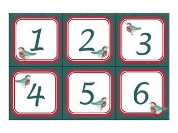 Classroom Wall Calendar pieces- Beautiful Bird Themed 2017 2018 2019