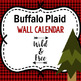 Classroom Wall Calendar pieces-Buffalo Plaid- Lumber Jack