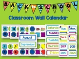 Classroom Wall Calendar pieces- Kids Back to School Theme 2017 2018 2019 2020