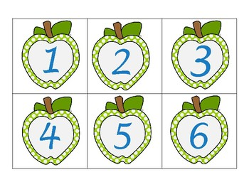 Classroom Wall Calendar pieces- Lime Green Apple Theme- Back to school