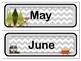 Classroom Wall Calendar pieces- Woodland Forest Animals Theme