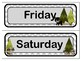 Classroom Wall Calendar pieces- Woodland Forest Animals Theme