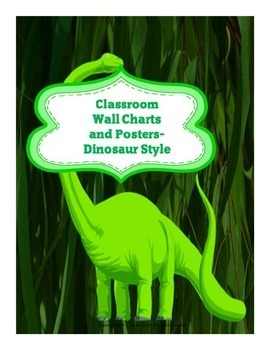Classroom Wall Charts and Posters- Dinosaur Style