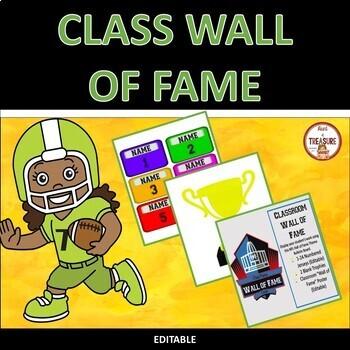 Classroom Wall of Fame (Editable)