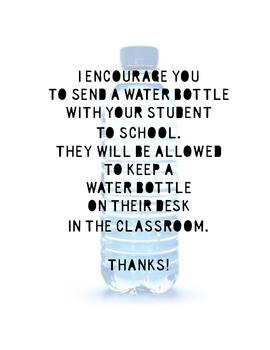 Classroom Water Bottles