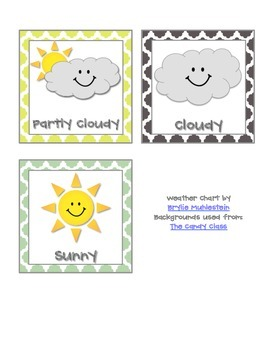 Classroom Weather Chart