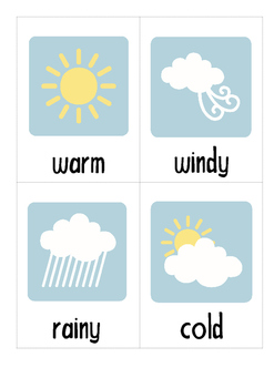 Classroom Weather Chart - Australian
