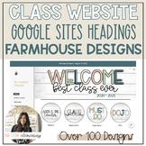 Classroom Website Google Sites Canvas Designs - FARMHOUSE / EDITABLE