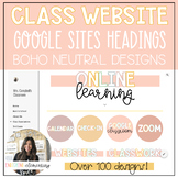 Classroom Website Google Sites Designs - NEUTRAL BOHO COLORS