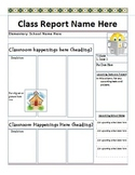 Classroom Weekly Letter Template