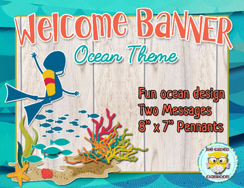 Classroom Welcome Banner, Ocean theme