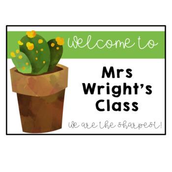 Classroom Welcome Door Sign FREE DOWNLOAD