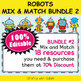 Classroom Welcome Door Sign in Robot Theme - 100% Editable