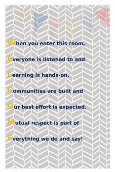 Classroom Welcome Poster *CUSTOMIZABLE*