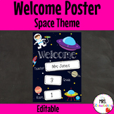 Classroom Welcome Poster {Space} **Editable