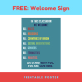 Classroom Welcome Sign