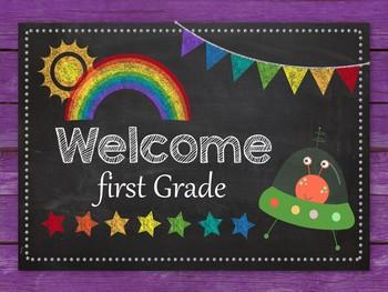 Classroom Welcome Sign - Editable