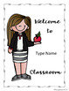 Classroom Welcome Sign - Freebie Sample *EDITABLE*
