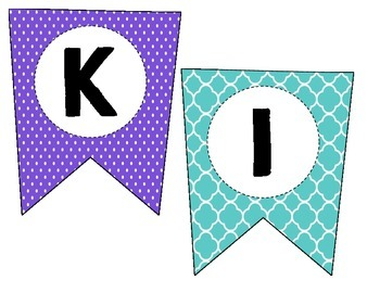 Classroom Welcome Sign - Teal, Pink, & Purple