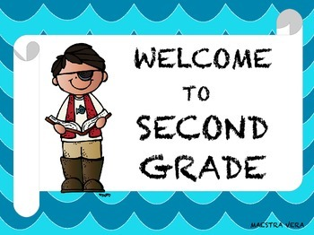 Classroom Welcome Sign with Pirate