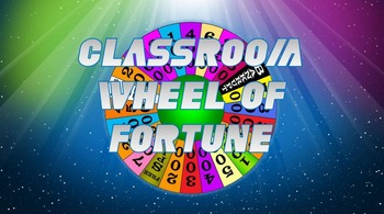 Classroom Wheel of Fortune Template