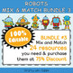 Classroom Where Are We Door Sign in Robot Theme - 100% Editable