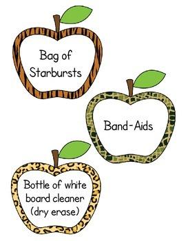 Classroom Wish List - Apples