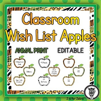 Classroom Wish List - Apples