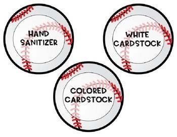 Classroom Wish List (Baseball) - Editable