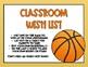 Classroom Wish List (Basketball) - Editable