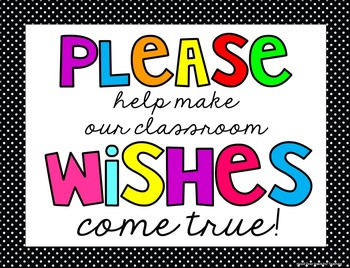 Classroom Wish List Cake {Wish List For Open House}