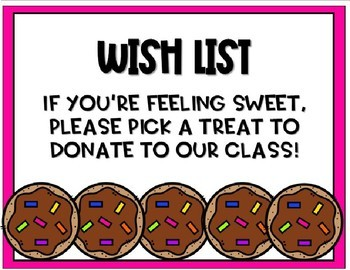 Classroom Wish List (Cookie) - Editable