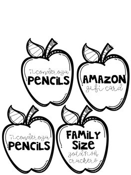 Classroom Wish List Donation Board