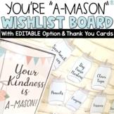Classroom Wish List Mason Jars Editable