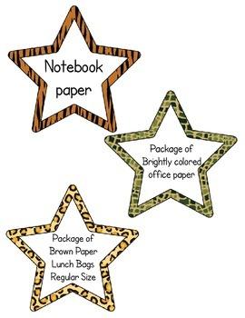 Classroom Wish List - Stars