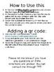 Classroom Wish List with QR code