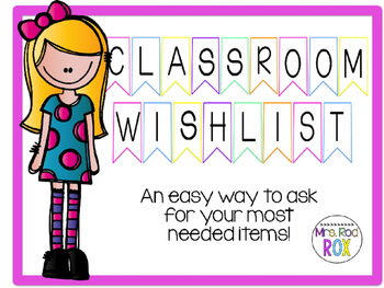 Classroom Wishlist Banner for Back to School *Editable* FREEBIE