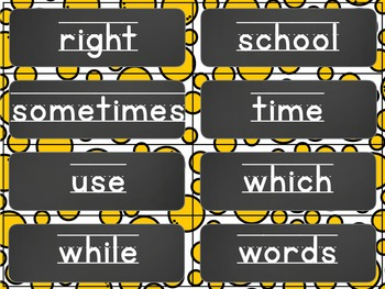 Editable Classroom Word Wall Letters and Words(Chalkboard Edition)