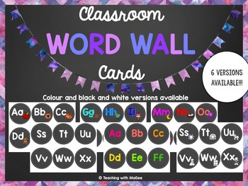 Editable Classroom Word Wall Letters and Words(Chalkboard