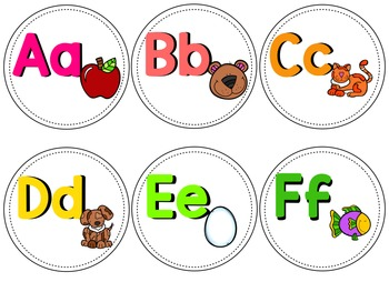 Editable Classroom Word Wall Letters and Words (White Background)
