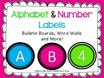 Alphabet and Number Labels - Bulletin Boards, Word Walls and More