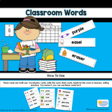Classroom Words: Beginning of the Year Words