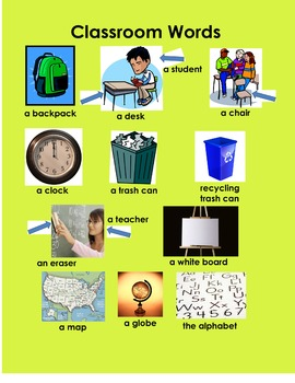 Classroom Words Poster