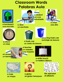 Classroom Words Poster English and Spanish